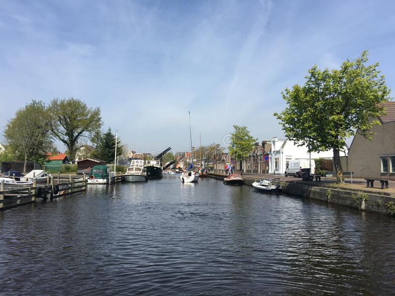 运河在斯内克 库存照片