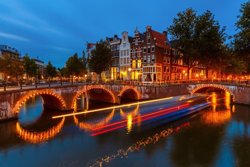 运河在阿姆斯特丹 库存图片