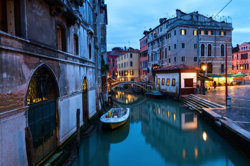 运河场面在威尼斯,意大利 图库摄影