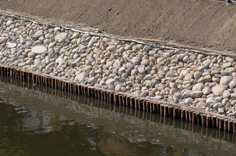 运河堤坝  库存照片