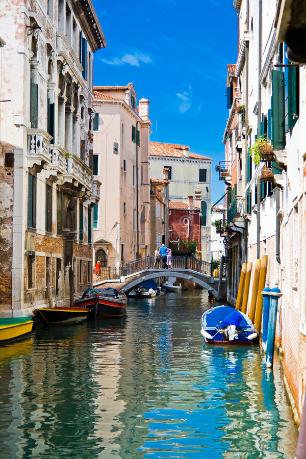 运河威尼斯 免版税库存照片