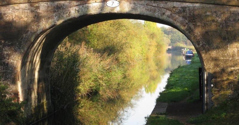 运河拱道 库存照片