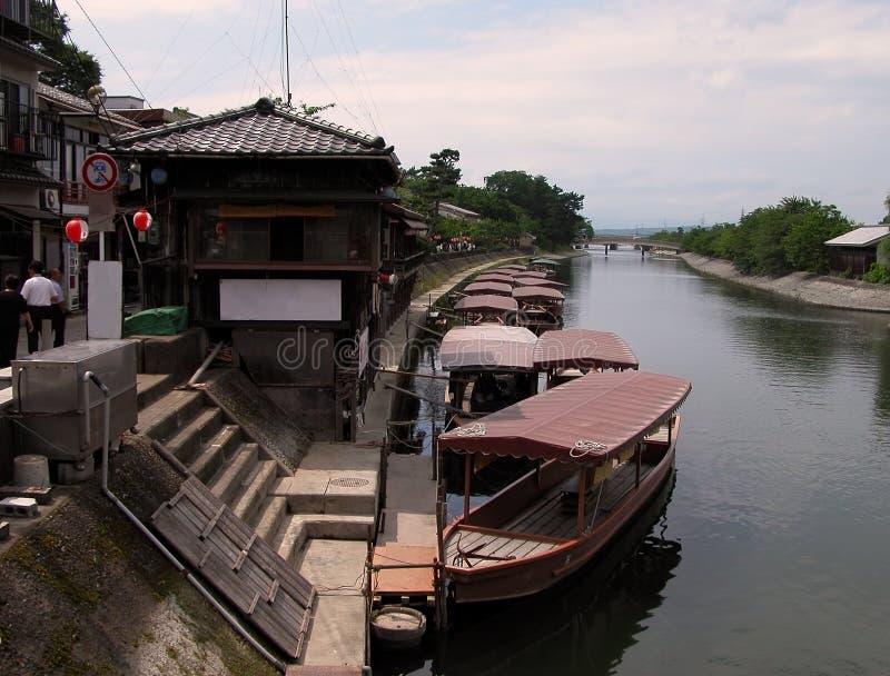 运河日语 库存照片