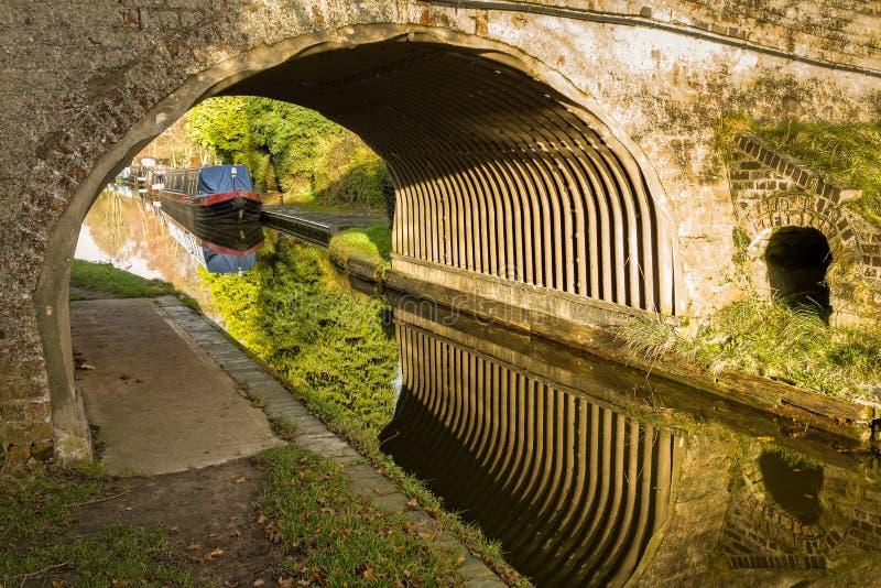 运河桥梁 库存照片