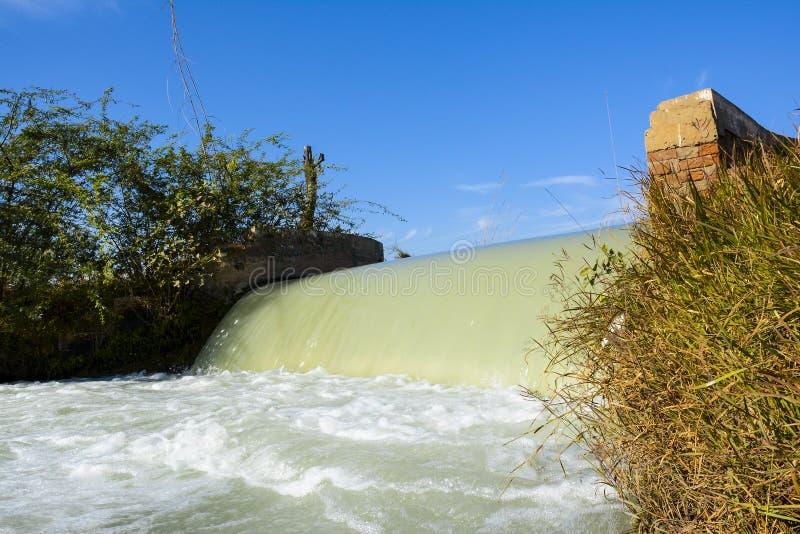 运河瀑布 库存图片