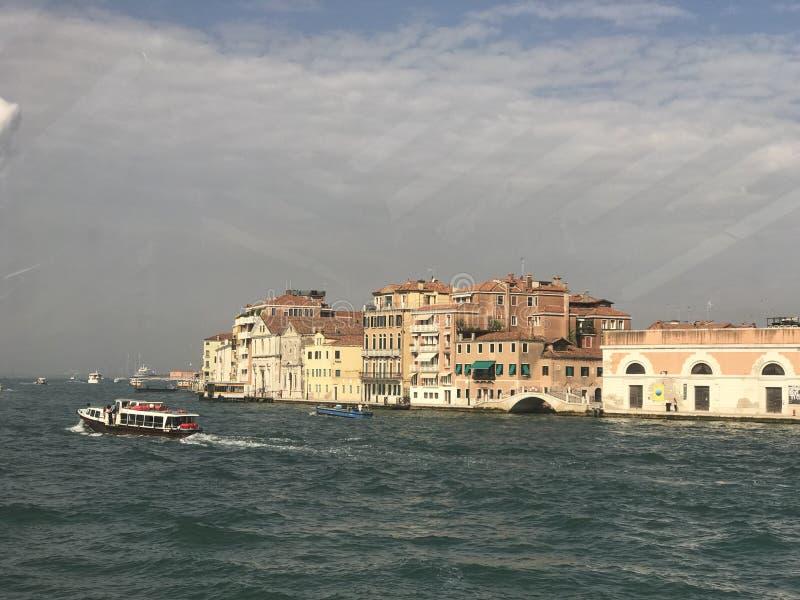 运河的看法在威尼斯 免版税库存图片