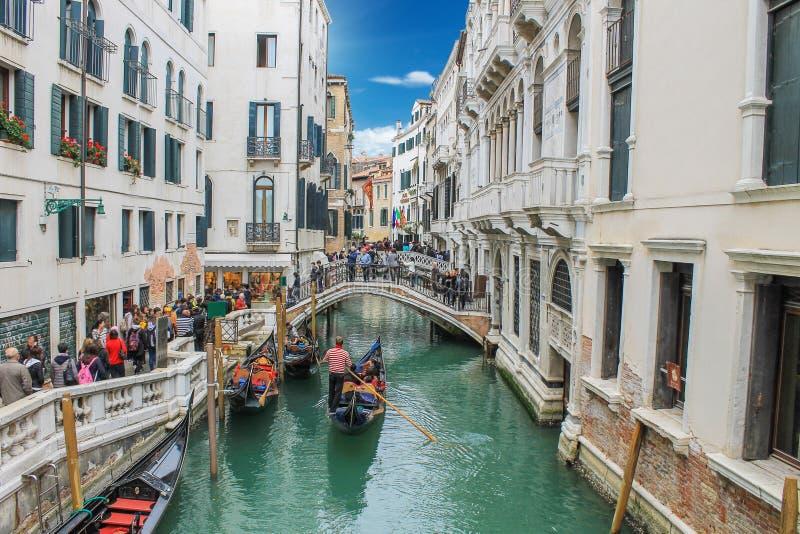 运河看法在威尼斯在意大利 免版税库存图片