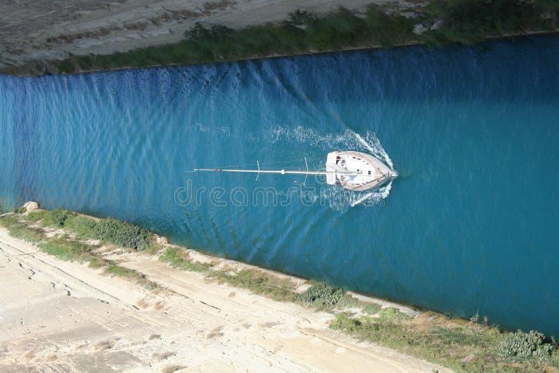 运河科林斯湾 图库摄影