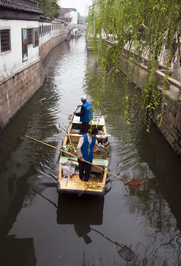 运河苏州 库存照片