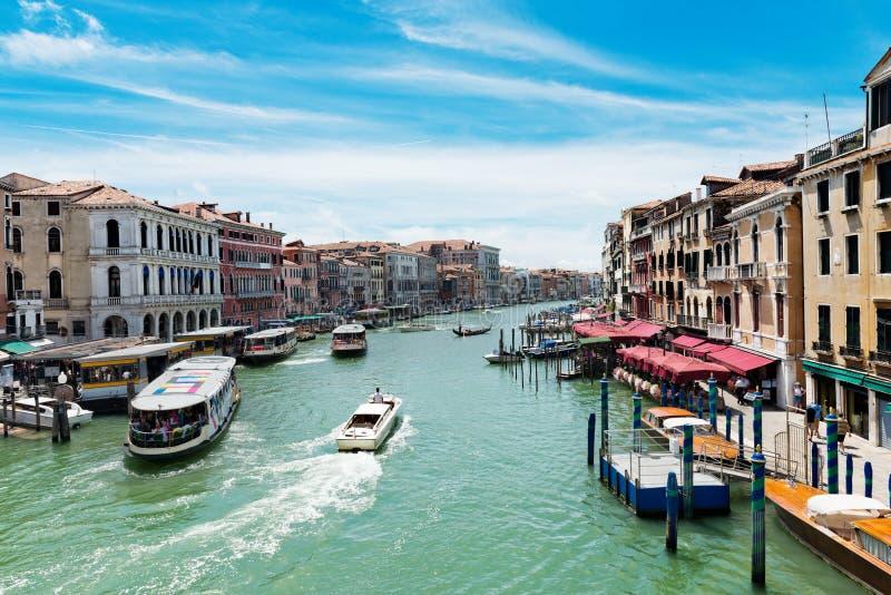 运河重创的意大利威尼斯 免版税库存照片