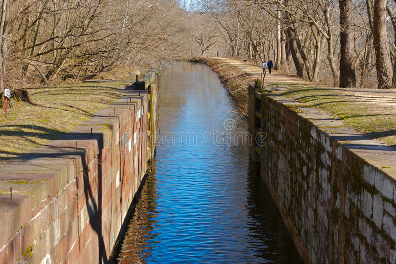 运河锁定 库存图片