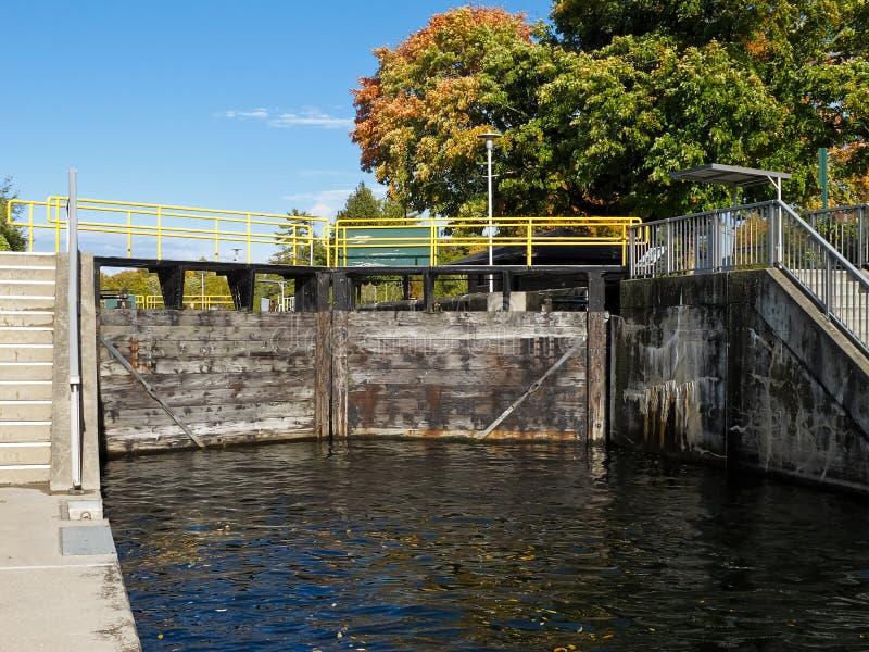 运河锁定 库存照片