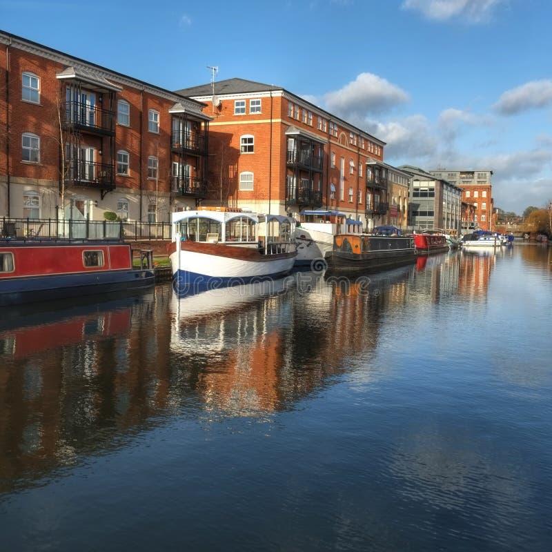 运河水池渥斯特英国 免版税库存照片