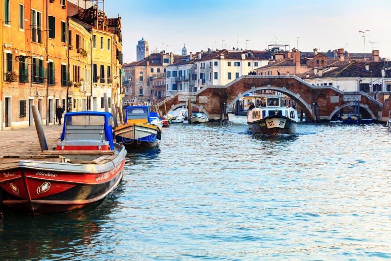 运河Cannaregio在威尼斯,意大利 库存照片