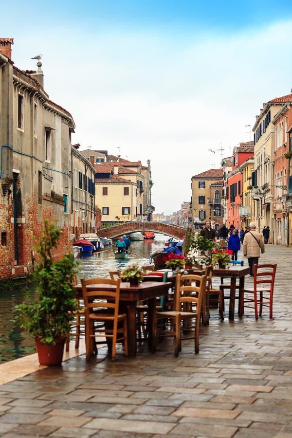 运河Cannaregio在威尼斯,意大利 免版税库存照片
