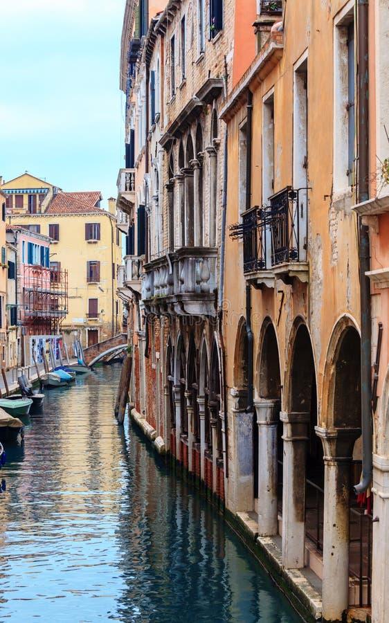 运河Cannaregio在威尼斯,意大利 库存图片