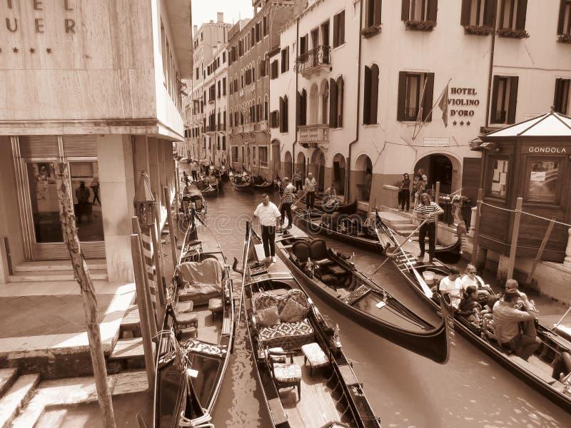 运河gran威尼斯 免版税库存图片