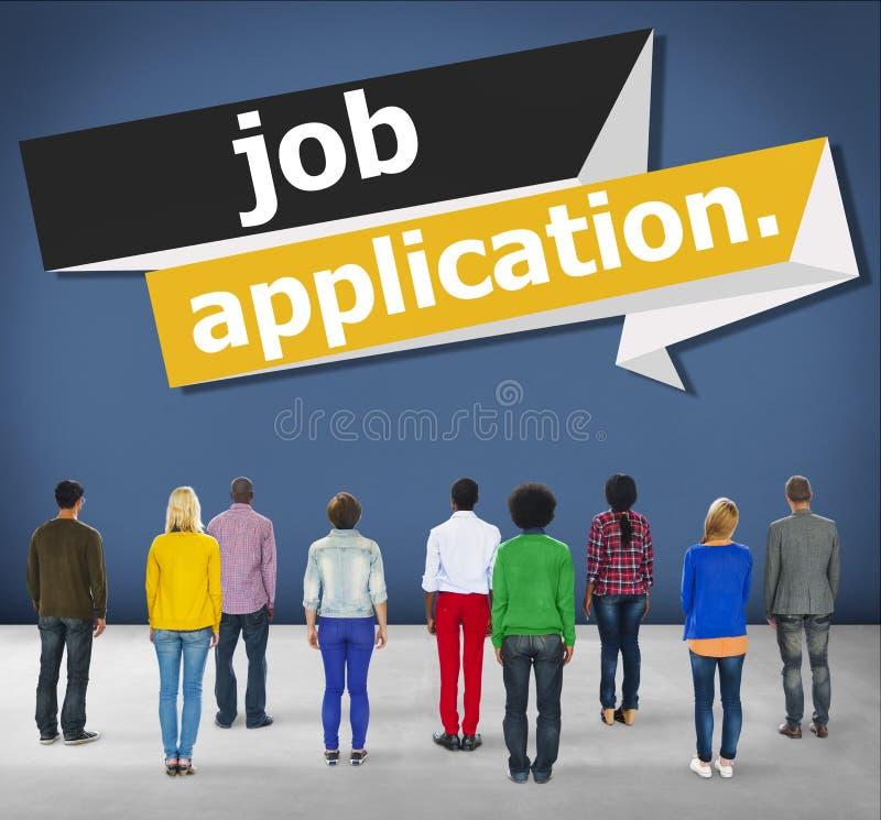 运用补充职业事业概念的工作申请书 库存图片