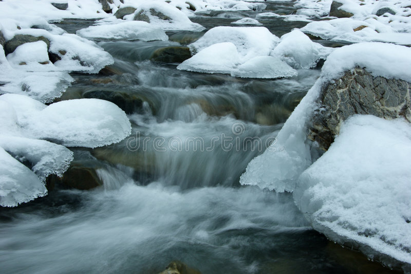 运行包括的冰雪仍然 库存照片