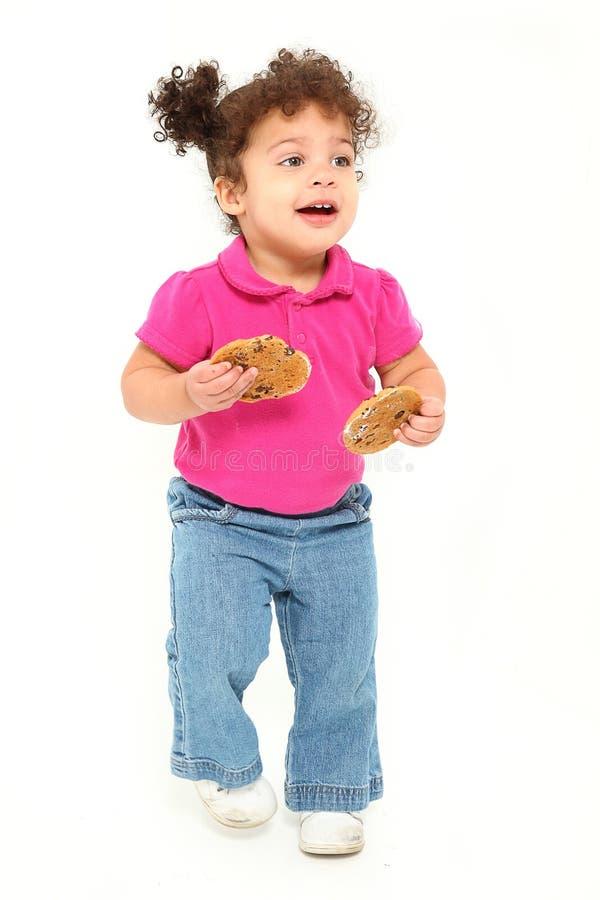 运行小孩的曲奇饼 库存图片