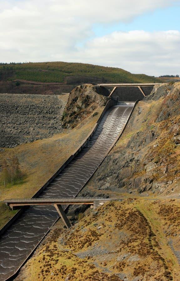运行的水的水坝电水力发电 免版税图库摄影