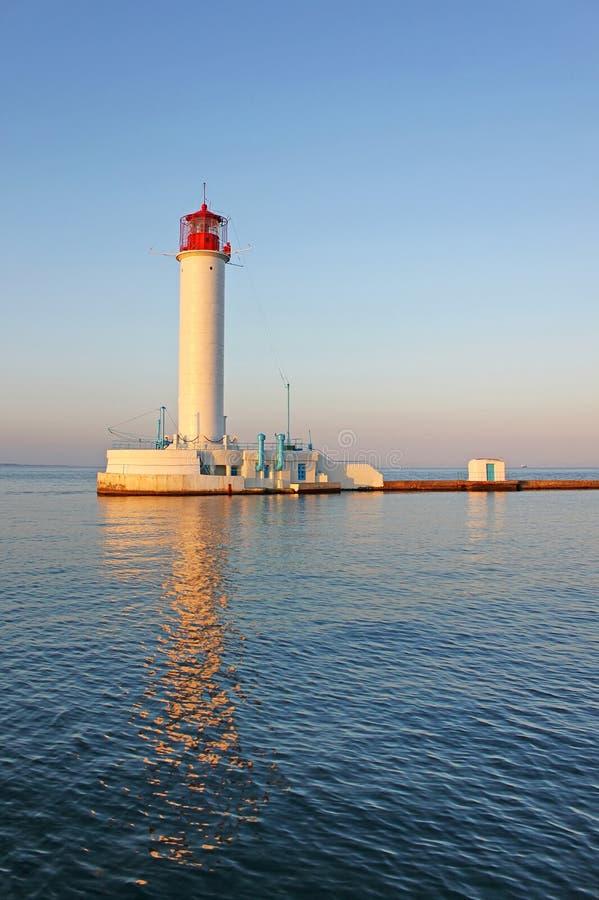 运行的灯塔在傲德萨 乌克兰 免版税库存图片