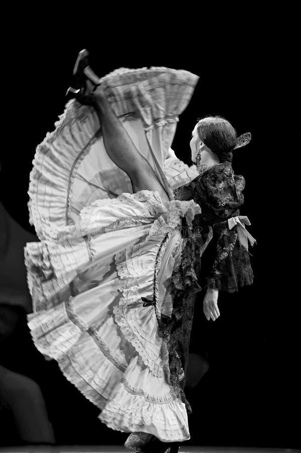 运货马车的车夫舞蹈戏曲佛拉明柯舞&# 免版税图库摄影