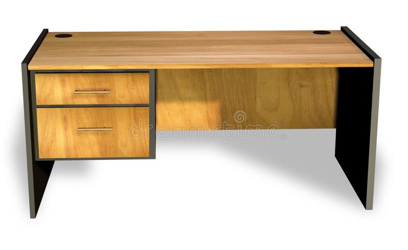 运转的办公桌3D回报 免版税库存图片