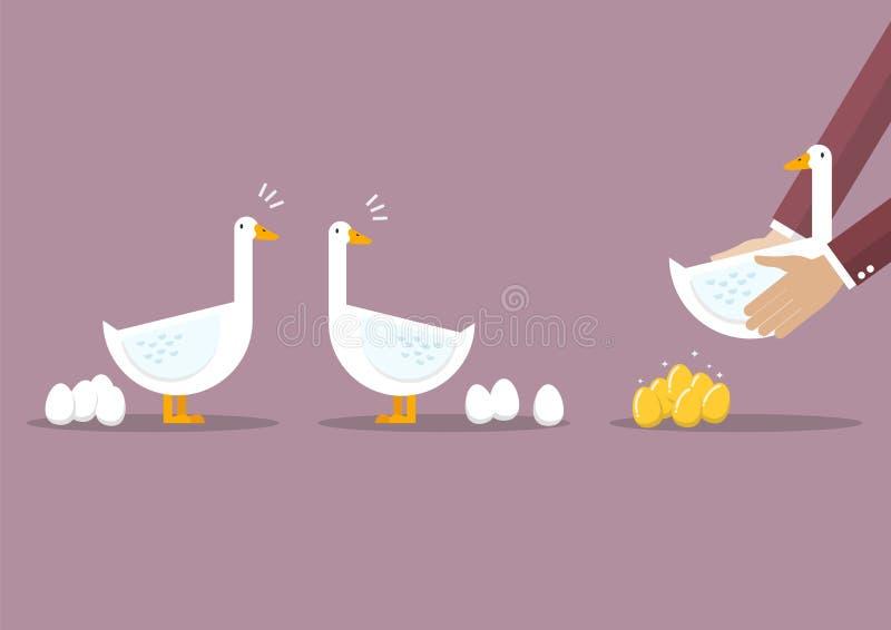 运载在普通的鹅中的商人特别鹅 向量例证
