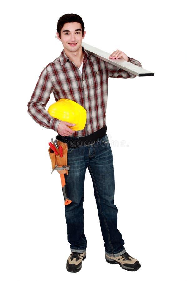 年轻建造者 免版税库存图片
