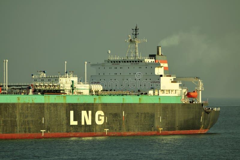运载气体液化天然气自然船 免版税库存照片