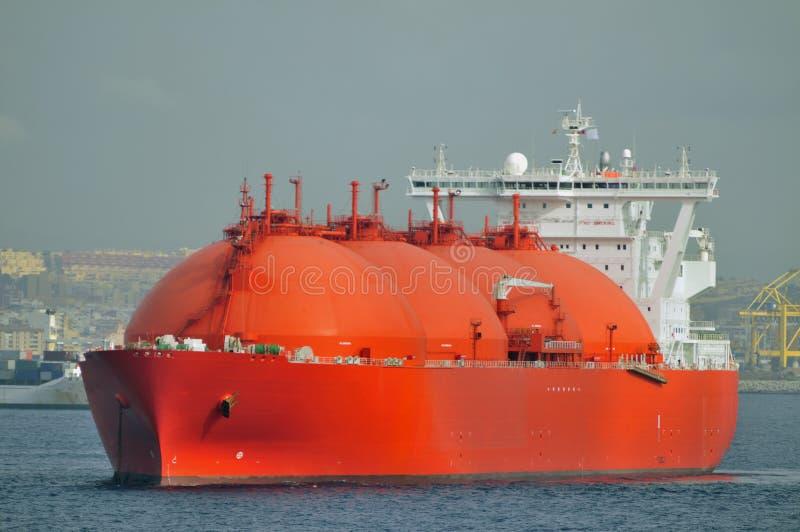 运载气体液化天然气自然船 图库摄影
