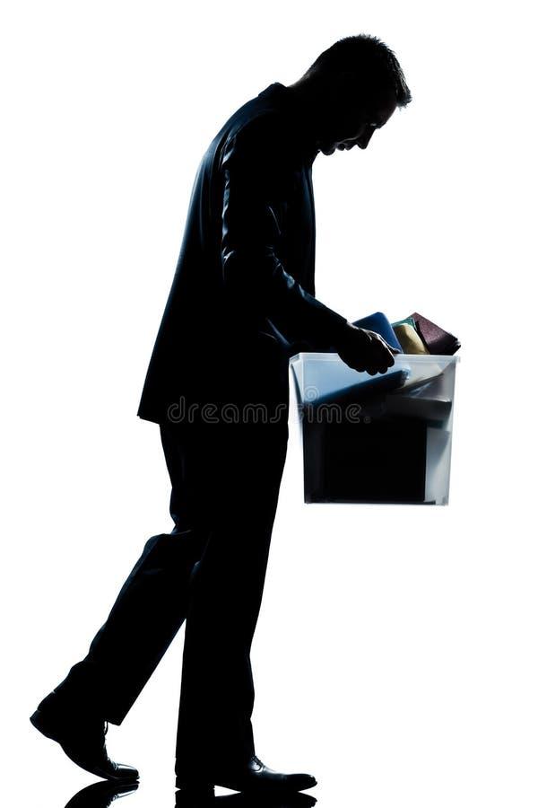 运载被射击的大量人剪影的配件箱 免版税库存图片