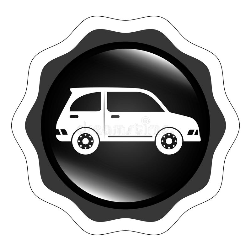 运输、车和交付 皇族释放例证