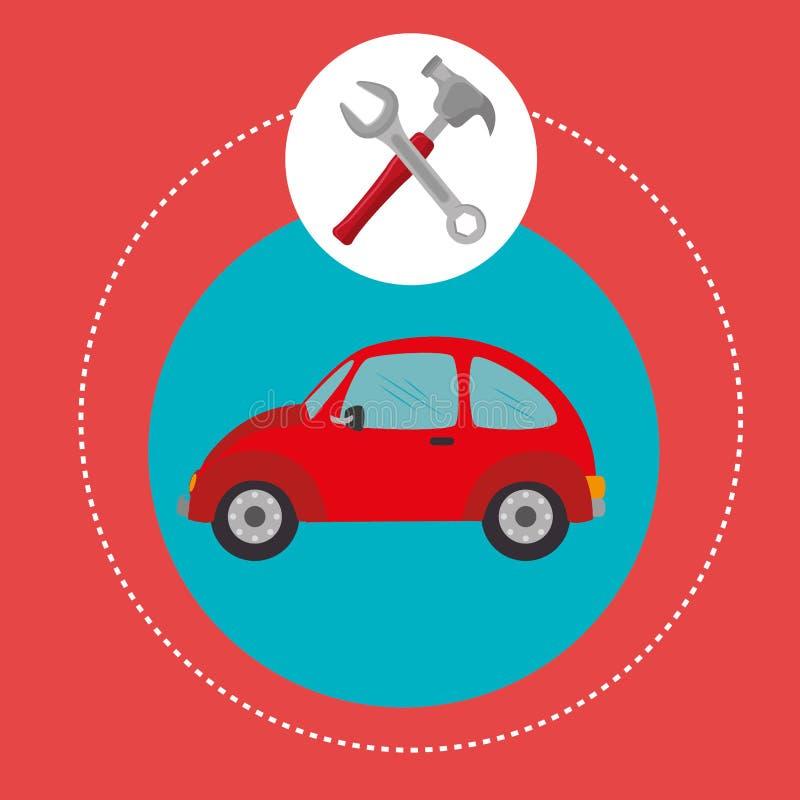运输、车和交付 向量例证