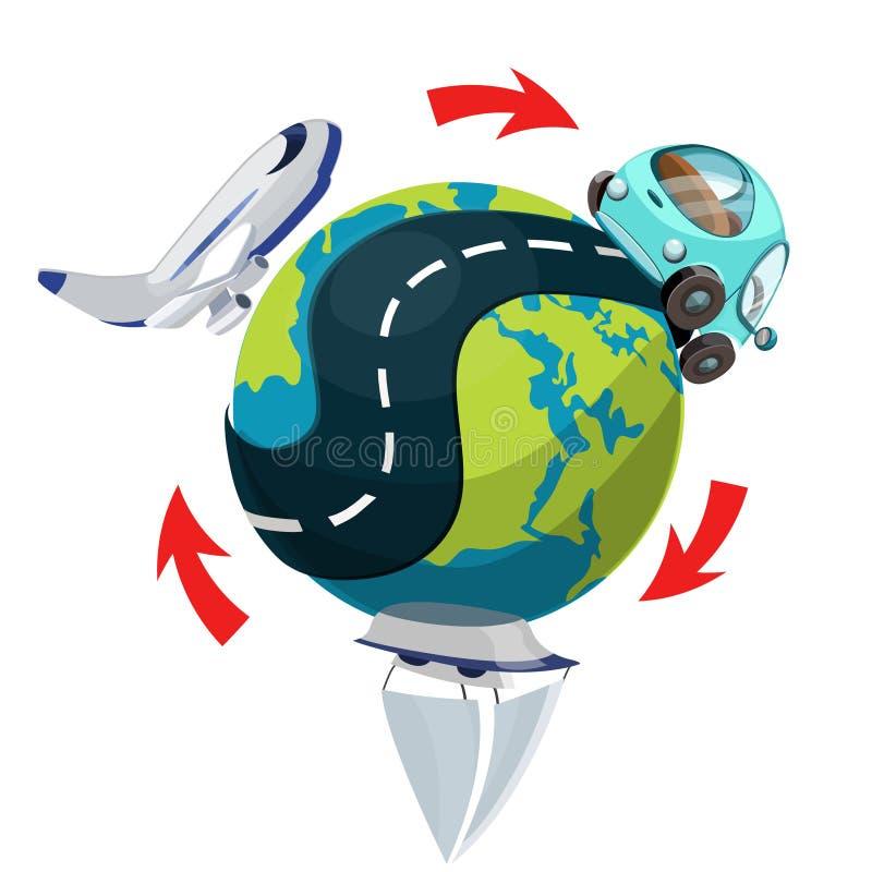 运输世界各地,传染媒介例证 向量例证