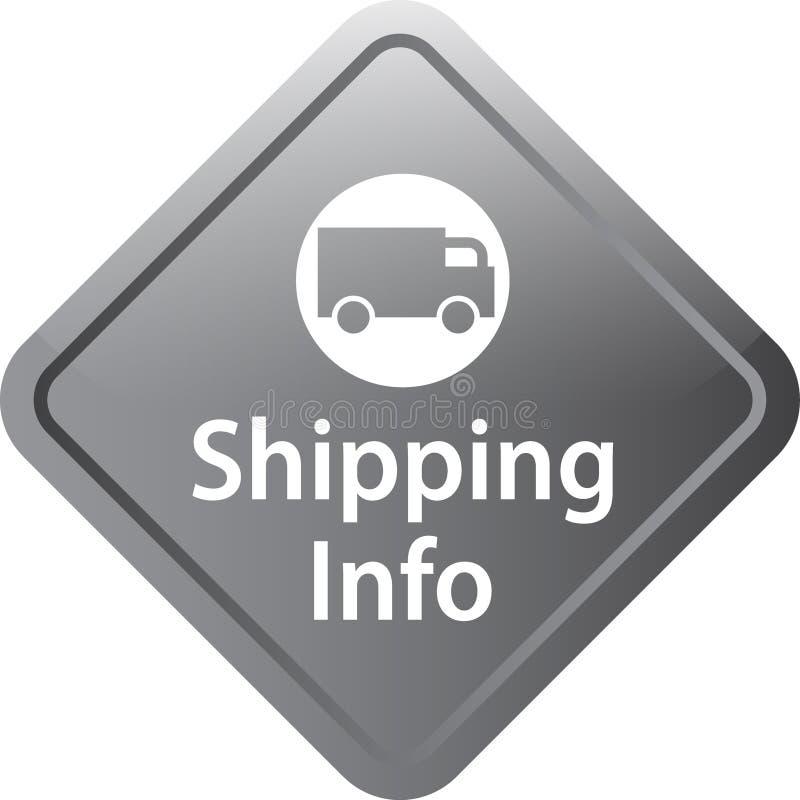 运输信息象网按钮 库存例证