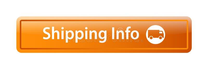 运输信息象网按钮 向量例证