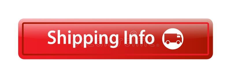 运输信息象网按钮 皇族释放例证