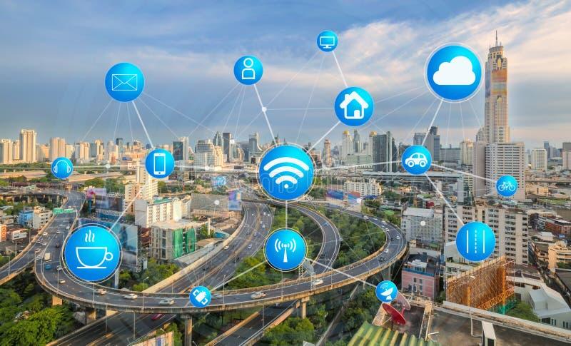 运输和通信和互联网现代的 免版税库存照片