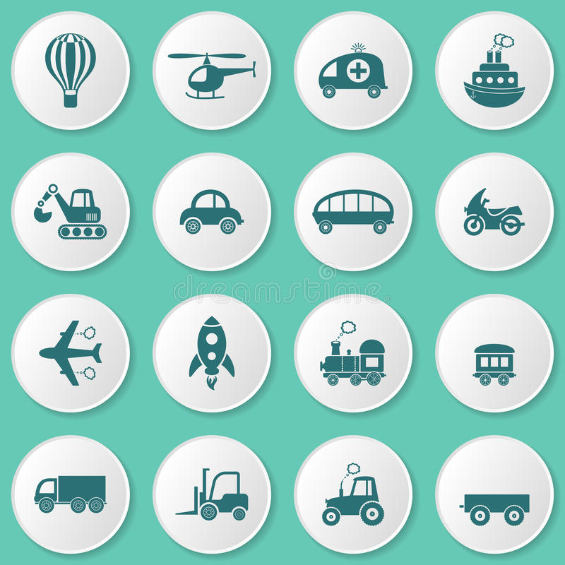 运输图标 库存例证