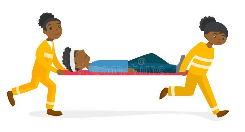 运输担架的紧急医生人.图片