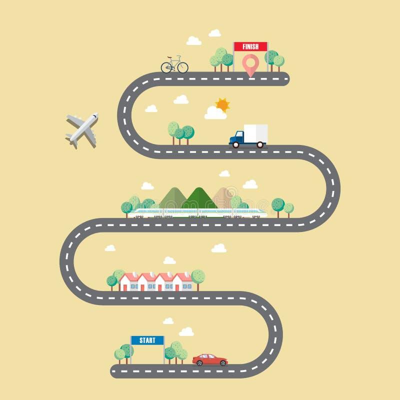 运输方式有镇路的 皇族释放例证