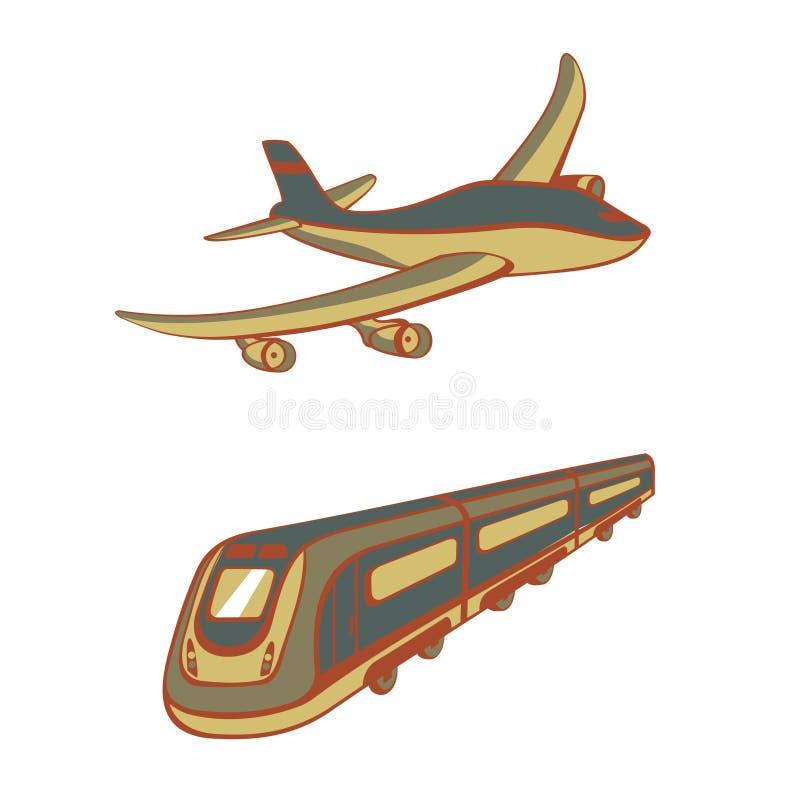 运输方式 皇族释放例证