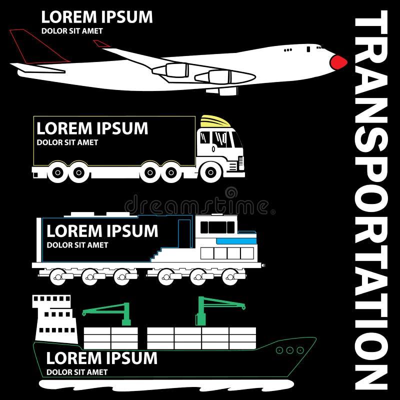 运输标志为增加tex 皇族释放例证