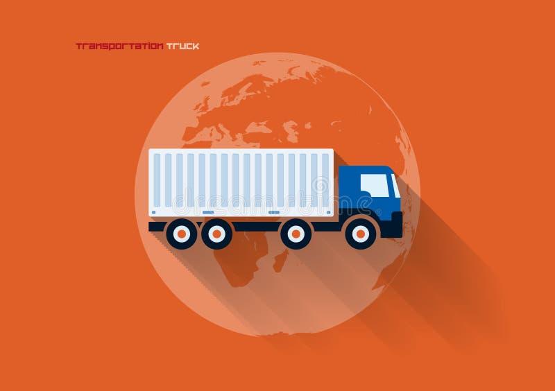 运输概念-卡车 库存例证
