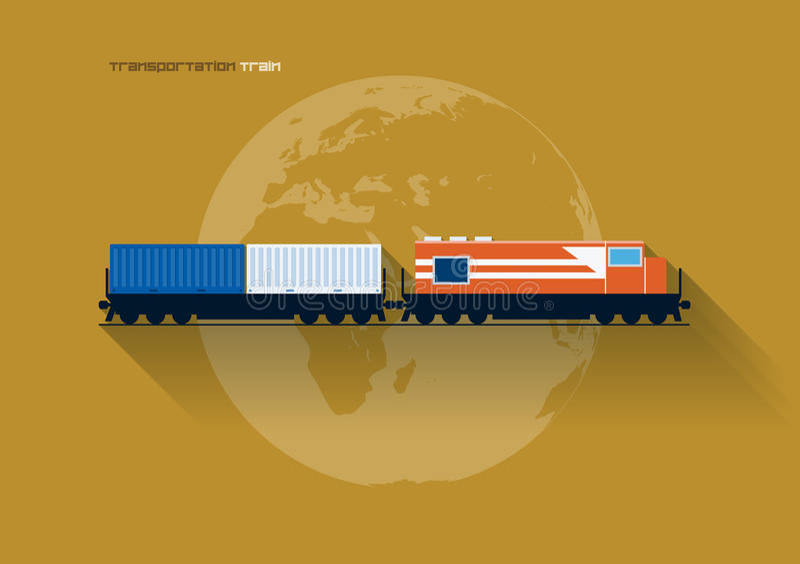 运输概念-火车 向量例证