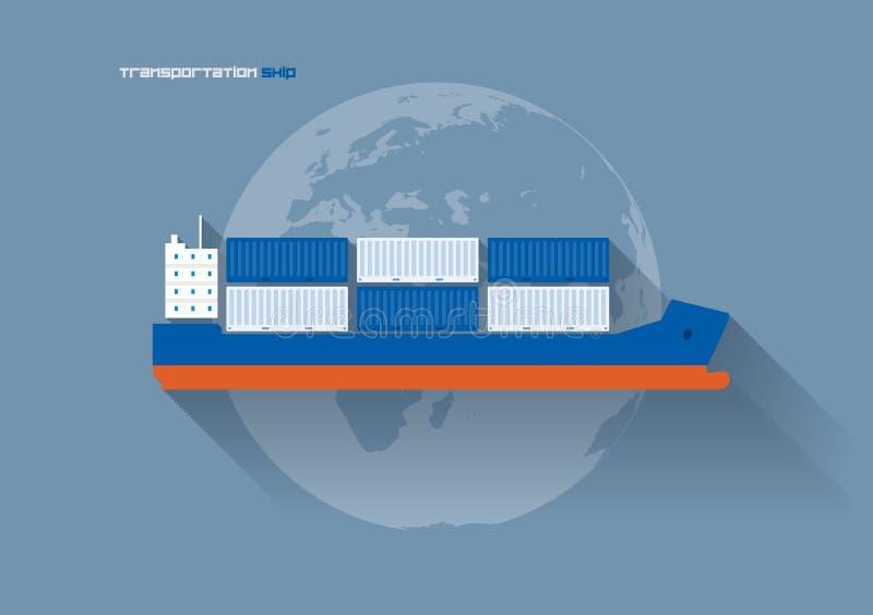 运输概念-船 皇族释放例证