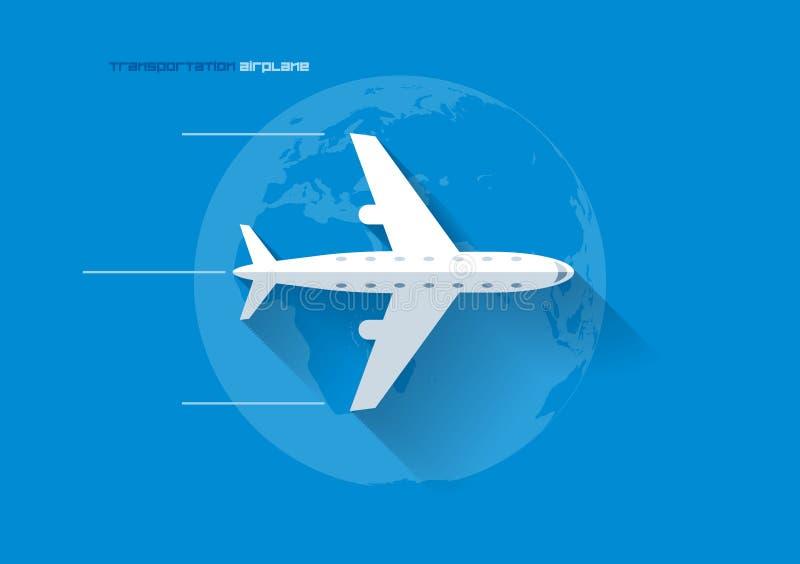运输概念-飞机 库存例证