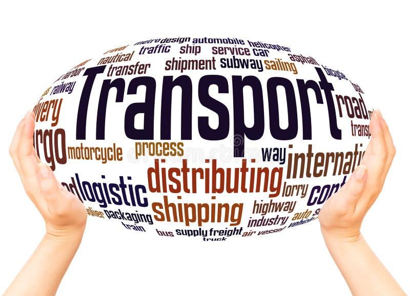 运输词云彩手球形概念 向量例证